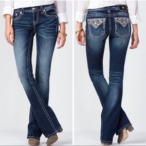 Miss Me Dreams Worthy Mid Rise Boot Cut Jeans